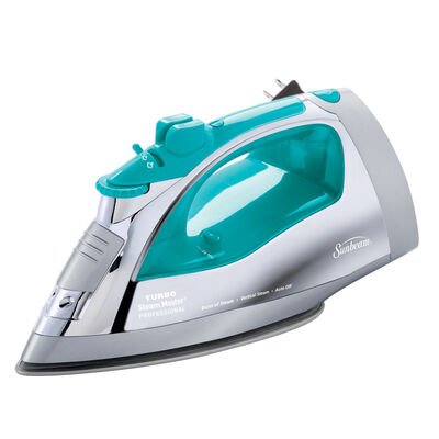Sunbeam® Steam Master® Iron with Retractable Cord, Chrome & Teal