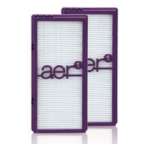 aer1® HAPF300APD True HEPA Allergen Performance-Plus Replacement Filter - Double Pack