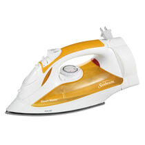 Sunbeam® Steam Master® Iron with Retractable Cord, White & Orange