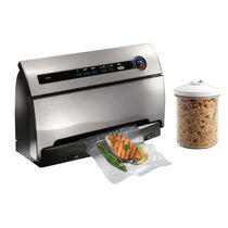 FoodSaver® Countertop V3840 Vacuum Sealing System, Stainless Steel with Canister