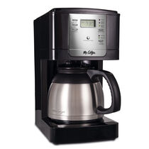 Mr. Coffee® Advanced Brew 8-Cup Programmable Coffee Maker with Thermal Carafe Black/Chrome