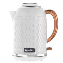 Curve 1.7L Jug Kettle, White with Rose Gold