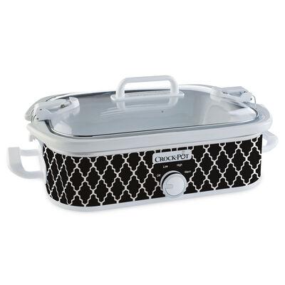 Crock-Pot® 3.5-Quart Casserole Crock Slow Cooker, Black &a