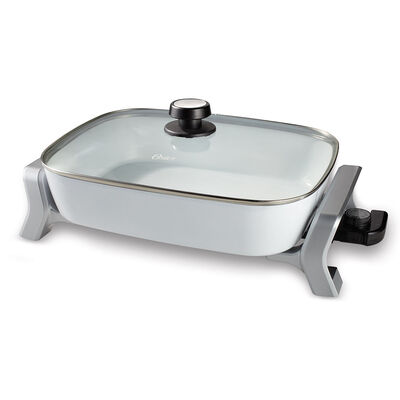 """Oster® DuraCeramic™ Infusion Series 12"""" x 16"""" Electric Skillet, White"""