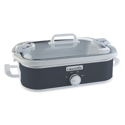 Crock-Pot® 3.5-Quart Casserole Crock Slow Cooker, Charcoal