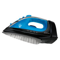 Sunbeam® Steam Master® Iron with Retractable Cord, Black & Blue