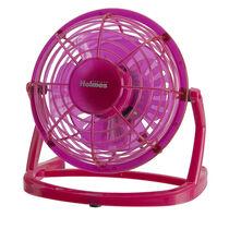 """Holmes® Plastic 4"""" USB Fan - Pink"""