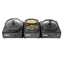 Crock-Pot® Hook Up® Connectable Entertaining System 3-Piece Set, Metallic Charcoal