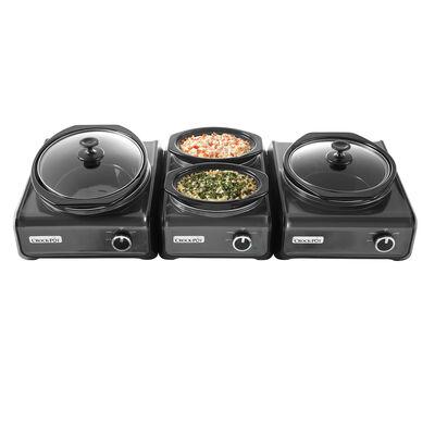 Crock-Pot® Hook Up® Connectable Entertaining System 3-Piece Set, Metallic Charcoal