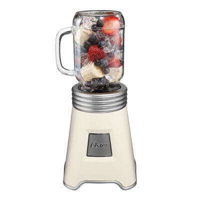 Oster® Fresh+Blend'N Go™ Mason Jar Blender White/Silver