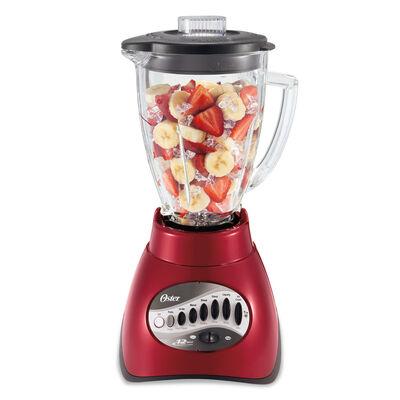 Oster® Precise Blend™ 200 Blender - Metallic Red - Glass Jar