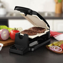 Oster® 7-Minute Grill with DuraCeramic Coating , Black/Eggshell
