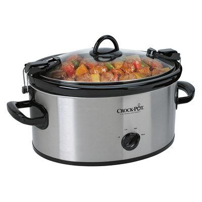 Crock-Pot® 6-Quart Cook & Carry™ Manual Slow Cooker, Silver