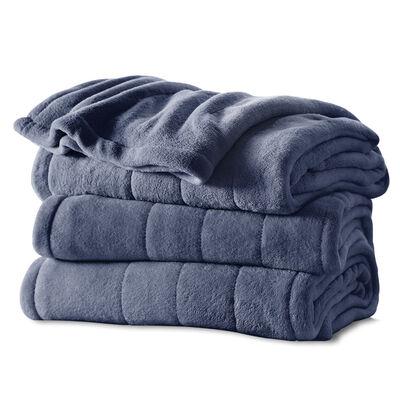 Sunbeam® Full Channeled Microplush Heated Blanket, Lagoon