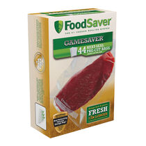 """FoodSaver® GameSaver® Quart Heat-Seal Bags- 8""""x 11"""", 44  Count"""