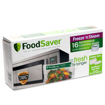 FoodSaver® Freeze 'N Steam™ Microwave Quart Heal-Seal Cooking Bags,16 Count