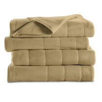 Sunbeam® Queen Quilted Fleece Heated Blanket, Acorn