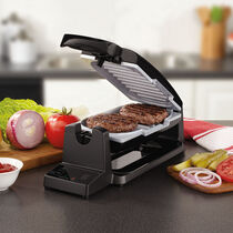 Oster® 7-Minute Grill with  DuraCeramic Coating, Black/Silver