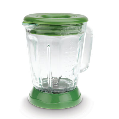 Margaritaville® Glass Jar with Lid, Paradise Green Fits Fiji™