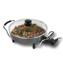 "Oster® DuraCeramic™ 12"" Round Electric Skillet, with Metal Handles"