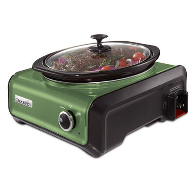 Crock-Pot® Hook Up® Connectable Entertaining System, 3.5-Quart, Metallic Green