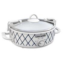 NEW! Crock-Pot® Casserole Crock™ 2.5-Quart Oval Slow Cooker, White/Blue Pattern