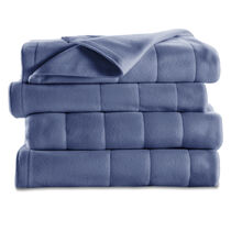 Sunbeam® Full Quilted Fleece Heated Blanket, Lagoon