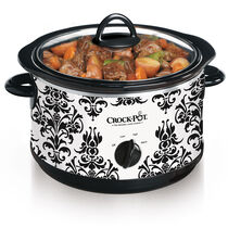 Crock-Pot® 4.5-Quart Manual Slow Cooker, Damask Pattern