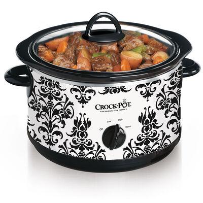 Crock-Pot® 4.5-Quart Manual Slow Cooker, Damask Pattern