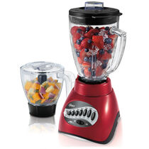 Oster® Precise Blend™ 300 Blender PLUS Food Chopper - Metallic Red - Glass Jar