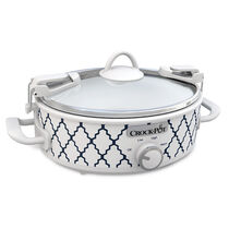 NEW! Crock-Pot® Casserole Crock™ 2.5-Quart Oval Slow Cooker, White/Blue Pattern