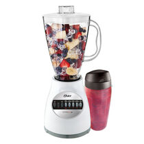 Oster® Accurate Blend™ 100 PLUS Blend-N-Go® Cup - White - Plastic Jar - NEW UPDATED LOOK!