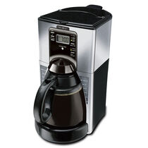 Mr. Coffee® Performance Brew 12-Cup Programmable Coffee Maker, Black/Stainless