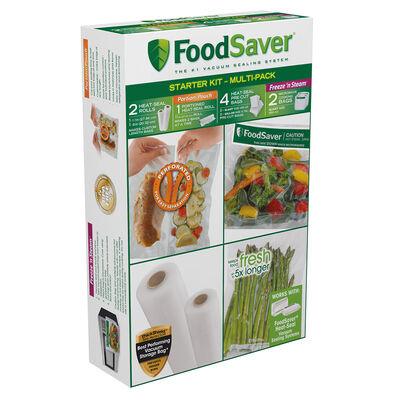 FoodSaver® Multi-Pack Vacuum-Seal Bags & Rolls Starter Kit
