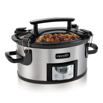 Crock-Pot® One Handed Portable Slow Cooker with Programmable Countdown Controller - 6Qt