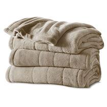Sunbeam® King Velvet Plush Heated Blanket, Mushroom
