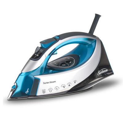 Sunbeam® turbo STEAM™ Digital Iron, Silver/Turquoise