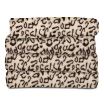 Sunbeam® Fleece Heated Throw, Cheetah