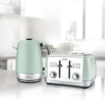 Strata Collection Jug Kettle and Toaster Set, Green