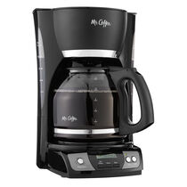 Mr. Coffee® Simple Brew 12-Cup Programmable Coffee Maker Black, CGX23-RB