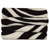 Sunbeam® Microplush Heated Throw, Zebra Black