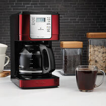 Mr. Coffee® Advanced Brew 12-Cup Programmable Coffee Maker Red/Stainless