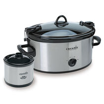 Crock-Pot® Cook & Carry™ Manual Slow Cooker with Little Dipper® Warmer, Silver, 6-Qt