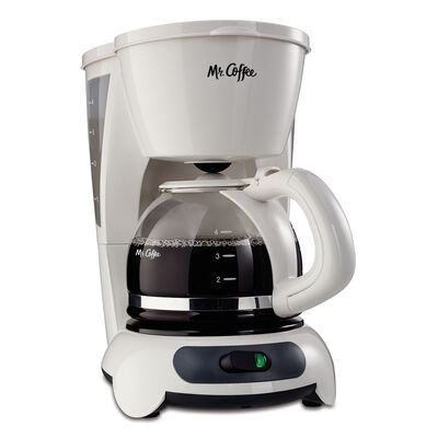 Mr. Coffee® Simple Brew 4-Cup Switch Coffee Maker, White, TF4-RB