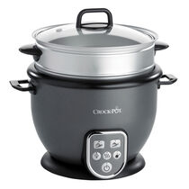 Crock-Pot 1.8L Digital Sauté Rice Cooker, Grey