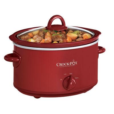 Crock-Pot® 4-Quart Manual Slow Cooker, Red