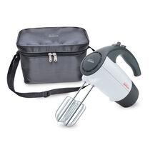 Sunbeam® 220-Watt Hand Mixer with Retractable Cord and Storage Bag, White