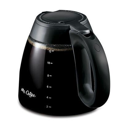 Mr. Coffee 12-Cup Glass Carafe, Black