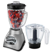 Oster® Precise Blend™ 300 Blender PLUS Food Chopper - Brushed Nickel - Glass Jar