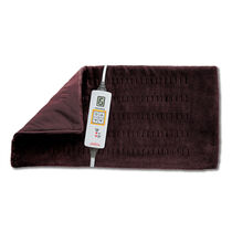Sunbeam® King Size XpressHeat™ Heating Pad, Walnut